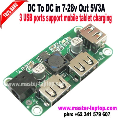 Buck DC to DC 5V3A3 USB ports support mobile tablet charging  large2