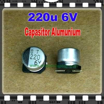 Cap Alu 220u 6V  large2
