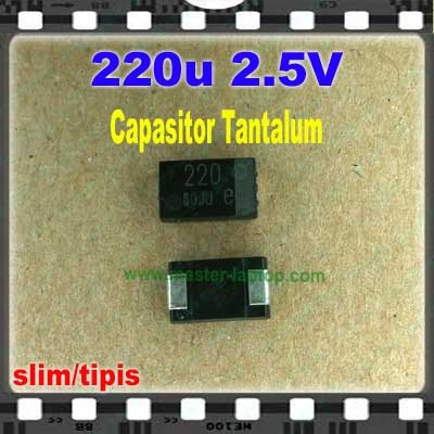 Cap tantalum 220u 2.5V  large2