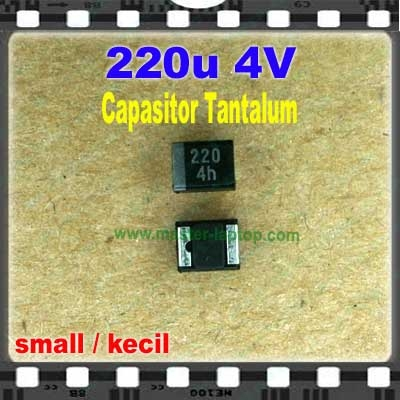 Cap tantalum 220u 4V small  large2
