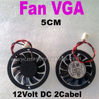 Fan VGA 12v 2kabel 5cm  large2