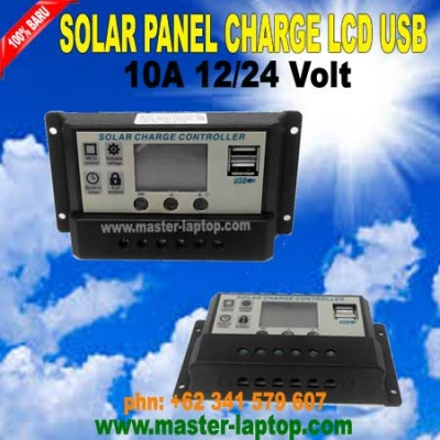 SOLAR PANEL CHARGE LCD USB  large2