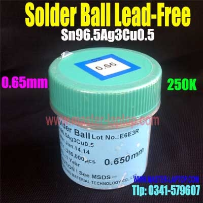 Solder Ball Lead Free 0,65mm 250k  large2