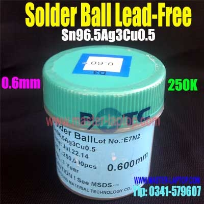 Solder Ball Lead Free 0,6mm 250k  large2